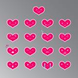 Emoticons Kierowy kolor 18 Obrazy Royalty Free