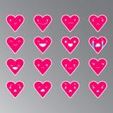 Emoticons Kierowy kolor 20 Obraz Stock