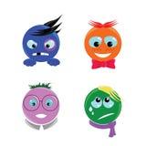 Emoticons met het karakter Stock Afbeeldingen