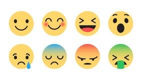 Emoticons modernos do vetor liso do projeto ilustração stock