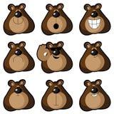 Emoticons niedźwiedzie Obrazy Stock