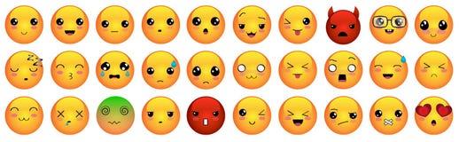 Emoticons o iconos del smiley fijados Fotos de archivo