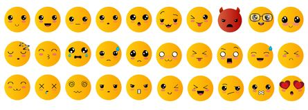 Emoticons o iconos del smiley fijados Imagen de archivo libre de regalías