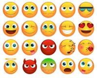 Emoticons o iconos del smiley fijados Fotografía de archivo libre de regalías