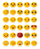 Emoticons o iconos del smiley fijados Fotografía de archivo
