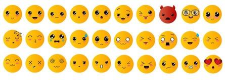 Emoticons oder smileyikonen eingestellt Lizenzfreies Stockbild