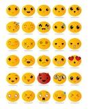 Emoticons oder smileyikonen eingestellt Stockfotografie