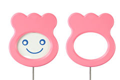 Emoticons Pink tags isolated. Stock Image