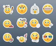 Emoticons that play Royalty Free Stock Photography