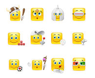 Emoticons that play Stock Images