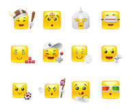 Emoticons that play Stock Photography