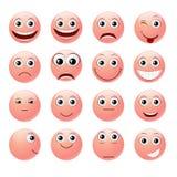 Emoticons rosados Fotografía de archivo