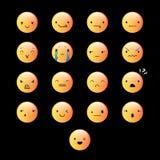 Emoticons Round kolor żółty 7 Fotografia Royalty Free