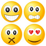 Emoticons set Stock Photos