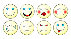 Emoticons set Stock Images