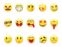 Emoticons set Royalty Free Stock Photos