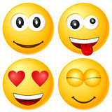 Emoticons set 4 Stock Image
