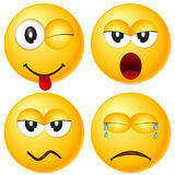 Emoticons set 5. Four emoticons isolated on white background. Vector illustration Stock Photo