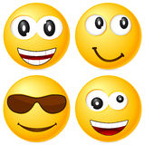 Emoticons set 6 Royalty Free Stock Image