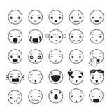 Emoticons set Stock Photography