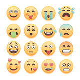 Emoticons set, emoji set, smiley collection. Emoticons pack for chat and web app design elements Stock Photo