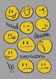 Emoticons.  set. hand drawn Royalty Free Stock Images