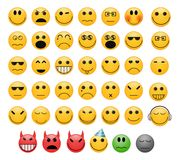 Emoticons set Stock Photography