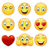 Emoticons set, vector. Royalty Free Stock Image