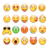 Emoticons set. In vector on white background Royalty Free Stock Photo
