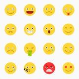 Emoticons set, yellow website emoticons Stock Photo