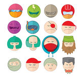 Emoticons smile  illustration set of faces Royalty Free Stock Photography