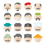Emoticons smile  illustration set of faces Royalty Free Stock Photo