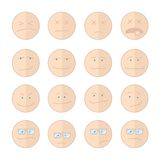 Emoticons smile  illustration set of faces Royalty Free Stock Images