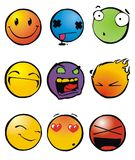 Emoticons, smiley Immagini Stock