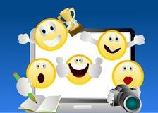 Emoticons sonrientes Imagen de archivo libre de regalías