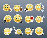 Emoticons and Sports Stock Image