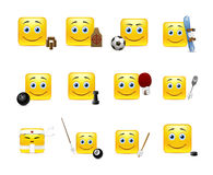 Emoticons and Sports Royalty Free Stock Photo