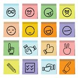 Emoticons sticky note paper Royalty Free Stock Photo