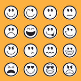 Emoticons stock vector Stock Photos