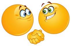 emoticons uścisk dłoni ilustracja wektor