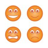 emoticons ustawiający royalty ilustracja