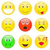 emoticons ustawiający Fotografia Royalty Free
