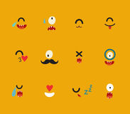 Emoticons vector template Stock Photo