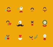 Emoticons vectormalplaatje royalty-vrije illustratie