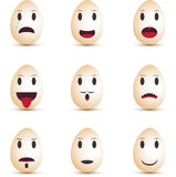 Emoticonseier Stockbild