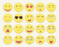 Emoticonuppsättning Emoticon för webbplatsen, pratstund, sms Modern plan design vektor Royaltyfri Foto