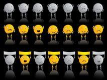 Emotie smileys stock illustratie