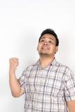 Emotie van de Aziatische vette mens Royalty-vrije Stock Foto