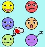 Emotiegezichten geplaatst beeld Stock Afbeeldingen