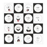 Emotieglimlachen in doos 002 worden geplaatst die Royalty-vrije Stock Afbeeldingen